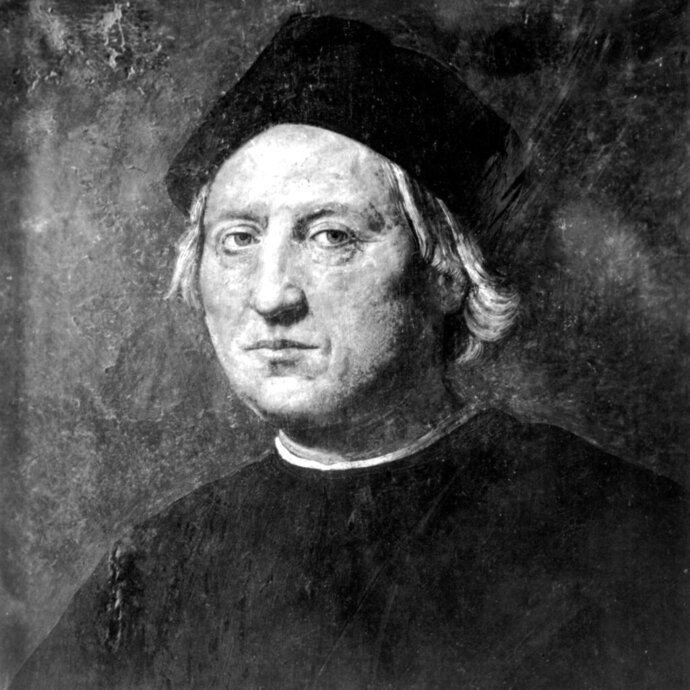 FILE - This undated portrait attributed to Rodolfo Ghirlandaia shows Italian explorer Christopher Columbus. The image and story of the 15th Century navigator who began European incursions into the Americas, have changed in the U.S. over decades. Following his three voyages, Columbus fell into obscurity for centuries until his adventures were revitalized in the 1800s. Columbus became a symbol for Italian and Irish immigrants in the U.S. who used his story to fight anti-Catholic bigotry and discrimination. They created annual Columbus Day to honor the explorer but also pay homage to Italian American heritage. By 1992, the 500th anniversary of Columbus' landing in the Americas, a new generation of Native American activists began protesting the navigator and blaming him for launching centuries of indigenous genocide. (AP Photo)