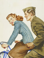 This image provided by the Norman Rockwell Museum shows the watercolor on board painting