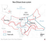 A look at the levees surrounding New Orleans. ;