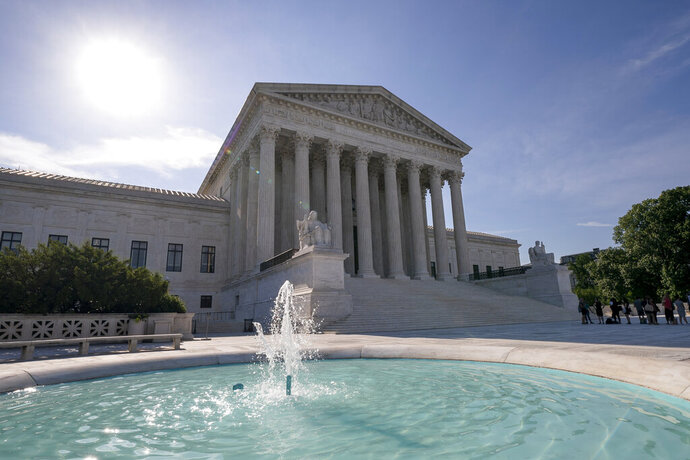 The Supreme Court is seen in Washington as the justices prepare to hand down decisions, Monday, June 17, 2019. (AP Photo/J. Scott Applewhite)