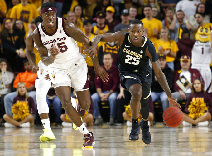 White scores 19, Arizona State rolls over Colorado 83-61