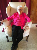 Helen Viola Jackson is shown this April 2017 photo.  Jackson was believed to be the last surviving widow of a Civil War soldier when she died Dec. 16, 2020 in Marshfield, Mo.  She was 101. In 1936, she was 17 when she married 93-year-old former Union soldier James Bolin. She had been his caregiver and he wanted to marry her so she would receive his soldier's pension. But after he died in 1939, Jackson never applied for the pension. (Photo courtesy Nicholas Inman via AP)
