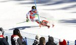 Austria's Marcel Hirscher speeds down the course on his way to win an alpine ski, men's World Cup slalom in Wengen, Switzerland, Sunday, Jan. 14, 2018. (AP Photo/Alessandro Trovati)