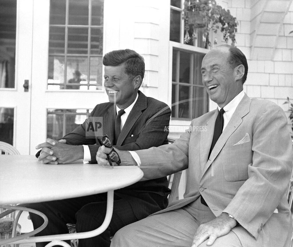 Watchf AP A  MA USA APHS255248 Sen. John F. Kennedy and Adlai E. Stevenson   Politician   Posing