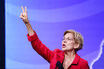 Democratic presidential candidate Sen. Elizabeth Warren, D-Mass., speak at the New Hampshire state Democratic Party convention, Saturday, Sept. 7, 2019, in Manchester, NH. (AP Photo/Robert F. Bukaty)