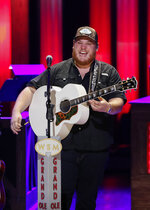 Luke Combs performs at