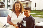 This undated photo provided by Diane Urban, shows her and her son Jordan Garmatter. After watching President Donald Trump target the son of former Vice President Joe Biden for his history of substance abuse, Urban, a Republican from Delphos, Ohio, was reminded again of the shame her son lived with during his own battle with addiction. As Trump nears the end of his first term, some supporters, including Urban, feel left behind by his administration's drug policies. (Courtesy of Diane Urban via AP)