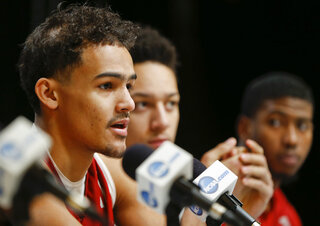 Trae Young, Jamuni McNeace, Christian James