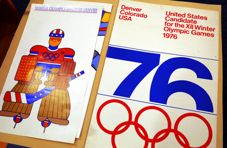 Posters used in Denver's 1976 Winter Olympics bid