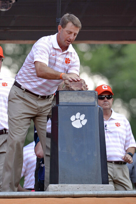 Traditions, Howard's Rock, Dabo Swinney