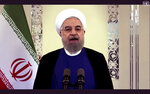 In this image made from UNTV video, Iranian President Hassan Rouhani speaks in a pre-recorded message which was played during the 75th session of the United Nations General Assembly, Tuesday, Sept. 22, 2020, at UN headquarters in New York. The U.N.'s first virtual meeting of world leaders started Tuesday with pre-recorded speeches from some of the planet's biggest powers, kept at home by the coronavirus pandemic that will likely be a dominant theme at their video gathering this year. (UNTV via AP)