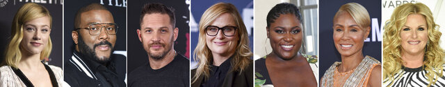 In this combination photo of celebrities with birthdays from Sept. 13-19, Lili Reinhart, from left, attends the 35th Annual Paleyfest for