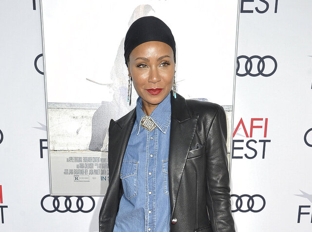 FILE - This Nov. 18, 2019 file photo shows Jada Pinkett Smith at the premiere of