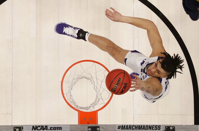 Kansas State guard Mike McGuirl shoots against UC Irvine during the second half of a first round men's college basketball game in the NCAA Tournament Friday, March 22, 2019, in San Jose, Calif. (AP Photo/Ben Margot)