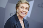 """FILE - In this Sept. 29, 2015 file photo, actress Julie Andrews arrives at the Los Angeles Philharmonic 2015/2016 season opening gala at Walt Disney Concert Hall in Los Angeles. Andrews released a memoir, """"Home Work: A Memoir of My Hollywood Years,"""" which hits shelves on Oct. 15, 2019. (Photo by Richard Shotwell/Invision/AP, File)"""