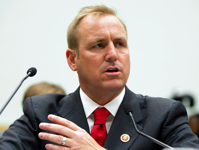 FILE - In this July 23, 2013 file photo, Rep. Jeff Denham, R-Calif., testifies at a hearing on Capitol Hill in Washington. Denham has gathered nearly 50 GOP co-sponsors on an effort to hold votes on four immigration bills. Democratic aides say virtually every Democrat will sign on as co-sponsors, but there would be no requirement for the vote to occur. (AP Photo/Evan Vucci, File)