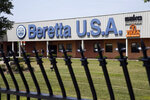 FILE - This Aug. 4, 2014 file photo shows the Beretta U.S.A. facility in Accokeek, Maryland. The Mexican government sued U.S. gun manufacturers and distributors, including some of the biggest names in guns like Beretta U.S.A. Corp, on Aug. 4, 2021 in U.S. federal court in Boston, arguing that their commercial practices have unleashed tremendous bloodshed in Mexico. (AP Photo, File)