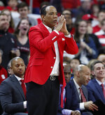 North Carolina State coach Kevin Keatts watches during the first half of the team's NCAA college basketball game against Wake Forest in Raleigh, N.C., Friday, March 6, 2020. (Ethan Hyman/The News & Observer via AP)