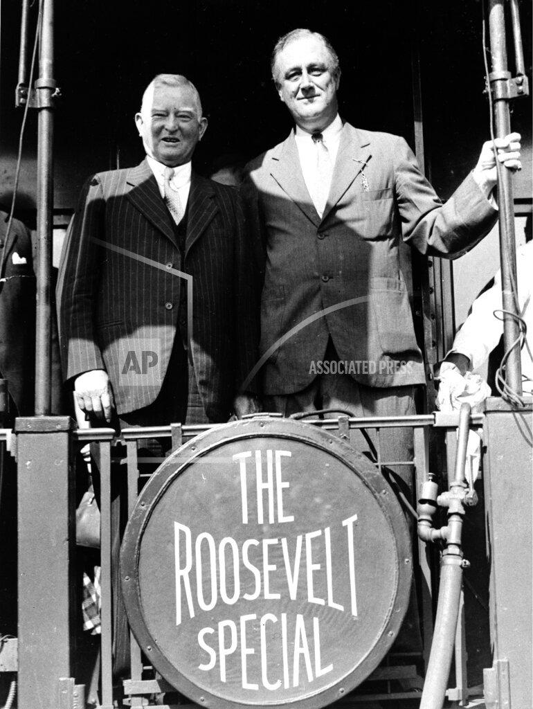 Associated Press Domestic News Kansas United States Election campaigns U.S. POLITICS GARNER ROOSEVELT
