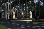 The entrance to Trump International Golf Club in West Palm Beach, Fla., is shown, Sunday, Feb. 3, 2019, as President Donald Trump's motorcade arrives. (AP Photo/Manuel Balce Ceneta)