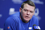 Indianapolis Colts general manager Chris Ballard speaks during a news conference at the team's NFL football training facility, Thursday, Jan. 2, 2020, in Indianapolis. (AP Photo/Darron Cummings)