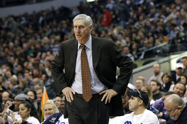 FILE - In this Dec. 11, 2010, file photo, Utah Jazz head coach Jerry Sloan is shown during an NBA basketball game against the Dallas Mavericks in Dallas. The Utah Jazz have announced that Jerry Sloan, the coach who took them to the NBA Finals in 1997 and 1998 on his way to a spot in the Basketball Hall of Fame, has died. Sloan died Friday morning, May 22, 2020, the Jazz said, from complications related to Parkinson's disease and Lewy body dementia. He was 78. (AP Photo/Tony Gutierrez, File)