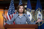 Speaker of the House Nancy Pelosi, D-Calif., speaks during a news conference on Capitol Hill in Washington, Thursday, Feb. 27, 2020. (AP Photo/J. Scott Applewhite)