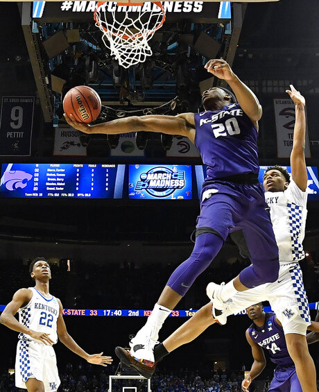 NCAA Kansas St Kentucky Basketball