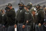 FILE - In this Saturday, Dec. 12, 2020, file photo, Army head coach Jeff Monken looks on against Navy during the first half of an NCAA college football game in West Point, N.Y., in the 121st playing of the Army-Navy game. Army has a 9-2 record and was planning to play in the Independence Bowl. When that bowl game was called off because there was not another team available, it suddenly left Army looking for a postseason opponent. The Black Knights could be in line should some bowl-bound team find itself dealing with COVID-19 issues. (AP Photo/Adam Hunger, File)