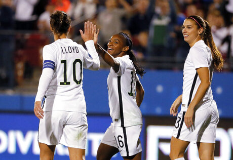 Alex Morgan, Carli Lloyd, Crystal Dunn