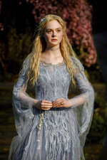 This image released by Disney shows Elle Fanning as Aurora in a scene from
