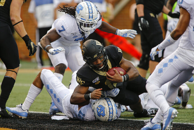 Wake Forest beats North Carolina 24-18 in nonconference game