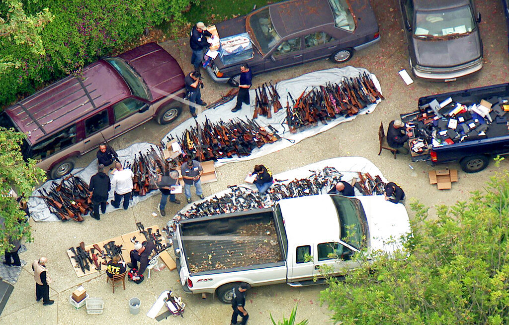 Gun Cache Seized