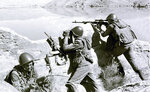 FILE - In this late April 1988, file photo, Soviet soldiers observe the highlands, while fighting Islamic guerrillas at an undisclosed location in Afghanistan. Moscow and Washington are intertwined in a complex and bloody history in Afghanistan, with both suffering thousands of dead and wounded in conflicts lasting for years. Now both superpowers are linked again over Afghanistan, with intelligence reports indicating Russia secretly offered bounties to the Taliban to kill American troops there. But analysts suggest that the two adversaries actually have more in common, especially when it comes to what they want to see in a postwar Afghanistan: a stable country that does not serve as a base for extremists to export terrorism. Both countries also are aligned in their opposition to militants from the Islamic State group.(AP Photo/Alexander Sekretarev, File)