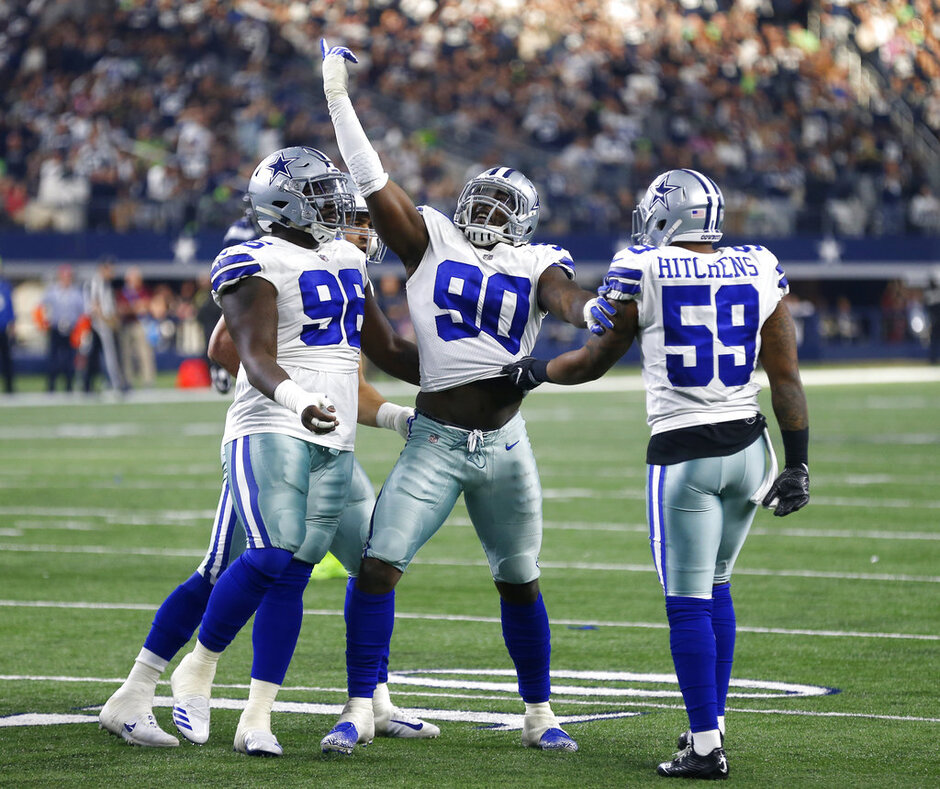 Tyrone Crawford, DeMarcus Lawrence, Anthony Hitchens