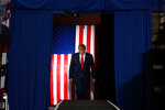 President Donald Trump arrives to speak at a campaign rally at the Santa Ana Star Center, Monday, Sept. 16, 2019, in Albuquerque, N.M. (AP Photo/Evan Vucci)