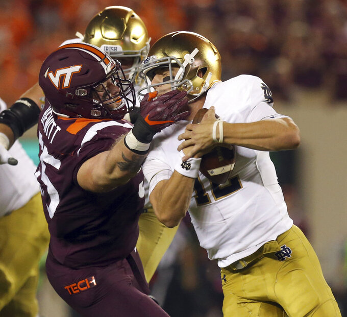 Williams runs No. 6 Irish past No. 24 Hokies, 45-23