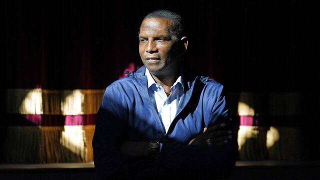 Burgess Owens, Republican candidate in Utah's 4th Congressional District, poses for a photograph during a campaign stop Friday, Oct. 30, 2020, in Spring City, Utah. (AP Photo/Rick Bowmer)