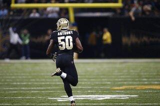 Panthers Saints PAT Return Football