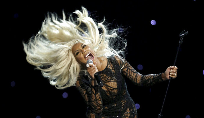 "FILE - Tamar Braxton performs at the BET Awards at the Microsoft Theater in a Sunday, June 25, 2017 file photo, in Los Angeles. Tamar Braxton is thanking her boyfriend for saving her life after her hospitalization last month. Braxton posted a lengthy message on social media late Saturday, August 1, 2020 that paid tribute to David Adefeso being her ""angel on earth."" (Photo by Matt Sayles/Invision/AP, File)"