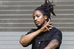 Rapper D Smoke poses for a portrait in Los Angeles on Saturday, Dec. 26, 2020. The rapper and school teacher is nominated for two Grammy Awards, one for best rap album for