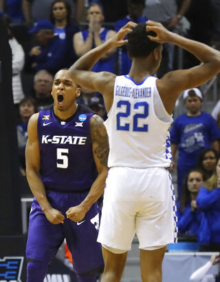 NCAA Kansas St Kentucky Basketball
