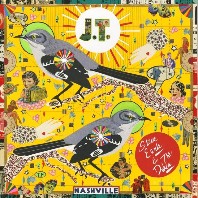 "This cover image released by New West Records shows ""J.T."" by Steve Earle & The Dukes, covering 10 songs from the catalog of Earle's son Justin Townes Earle, who died in August. The album, released Monday, is a tribute to his son. (New West Records via AP)"