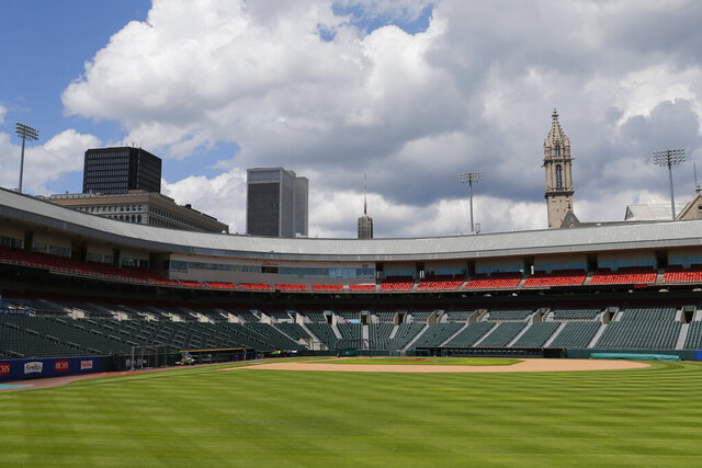 The Toronto Blue Jays will play their 2020 home games at Sahlen Field, their Triple-A affiliate, the team announced, Friday, July 24, 2020, in Buffalo N.Y. (AP Photo/Jeffrey T. Barnes)