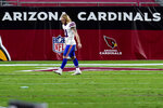 Buffalo Bills wide receiver Cole Beasley (11) leaves the field after an NFL football game against the Arizona Cardinals, Sunday, Nov. 15, 2020, in Glendale, Ariz. The Cardinals won 32-20. (AP Photo/Ross D. Franklin)