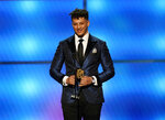 Patrick Mahomes of the Kansas City Chiefs accepts the award for AP offensive player of the year at the 8th Annual NFL Honors at The Fox Theatre on Saturday, Feb. 2, 2019, in Atlanta. (Photo by Paul Abell/Invision for NFL/AP Images)
