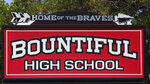 Bountiful High School sign is shown , Tuesday July 28, 2020, in Bountiful, Utah. While advocates have made strides in getting Native American symbols and names changed in sports, they say there's still work to do mainly at the high school level, where mascots like Braves, Indians, Warriors, Chiefs and Redskins persist. (AP Photo/Rick Bowmer)