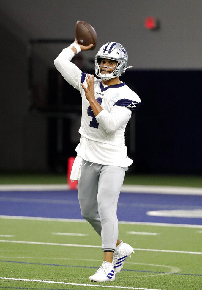 Cowboys' Prescott clicks quickly with new QB coach Kitna