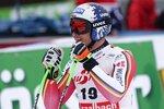 Germany's Thomas Dressen celebrates at the finish area of an alpine ski, men's World Cup Super G, in Saalbach-Hinterglemm, Austria, Friday, Feb. 14, 2020. (AP Photo/Giovanni Auletta)
