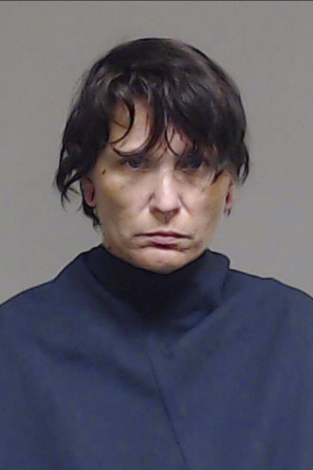 Donna Grabowski is shown in an undated photo provided by the Collin County, Texas Government. Donna Grabowski, 41, and Roland Grabowski were jailed on felony charges including evidence tampering and abuse of a corpse after Texas sheriff's deputies found their infant son dead in a bucket of tar in Princeton, Texas. (Collin County Texas Government via AP)